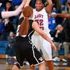 12-10-13<br /> Kokomo vs. Western basketball<br /> Kokomo's Jasmine Love looks for a pass as Western plays defense.<br /> KT photo   Kelly Lafferty