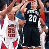 12-10-13<br /> Kokomo vs. Western basketball<br /> Western's Caitlyn O'Neal looks to the basket as Kokomo's defense tries to block her.<br /> KT photo | Kelly Lafferty