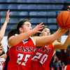 12-21-13   ---  Taylor HS vs Cass HS girls basketball --  Cass's Olivia Collins rebounding in the 3rd quarter.<br />   KT photo | Tim Bath