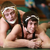 12-12-13<br /> Eastern vs. Western wrestling<br /> Eastern's Corbin Hetzner (left) and Western's Mason Shepherd<br /> KT photo | Kelly Lafferty