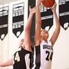 12-18-13<br /> Western vs Lebanon girls basketball<br /> Western's Siera Daniel and Lebanon's Kristen Spolyar go up for a rebound.<br /> KT photo | Kelly Lafferty