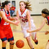 12-21-13   ---  Taylor HS vs Cass HS girls basketball -- Taylor's Shannon Neal not letting a Cass's defence stop her.<br />   KT photo | Tim Bath