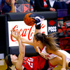 12-21-13   ---  Taylor HS vs Cass HS girls basketball  --- Cass's Bailey Gremelspacher and Taylor's Savannah Delgado scramble for the ball in the erd quarter.<br />   KT photo | Tim Bath