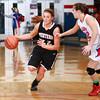 12-10-13<br /> Kokomo vs. Western basketball<br /> Western's Carley O'Neal tries to get away from Kokomo's defense.<br /> KT photo | Kelly Lafferty