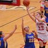 St. Anthony's Katie Richards puts up a shot in the lane in her team's loss to CHBC at the Enlow Center.