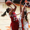 St. Anthony's Makayla Walsh goes up for two points during St. Anthony's 37-17 win against Altamont at Altamont High School. Walsh was the leading scorer with 8 points, all of which were scored in the second half.