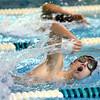 Eastern High School's Brent Bachman swimming the 400 Free on Tuesday,  Dec. 9, 2014. <br /> Tim Bath | Kokomo Tribune