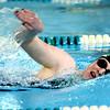Eastern High School's Callie Burnett swimming the 400 Free on Tuesday,  Dec. 9, 2014. <br /> Tim Bath | Kokomo Tribune