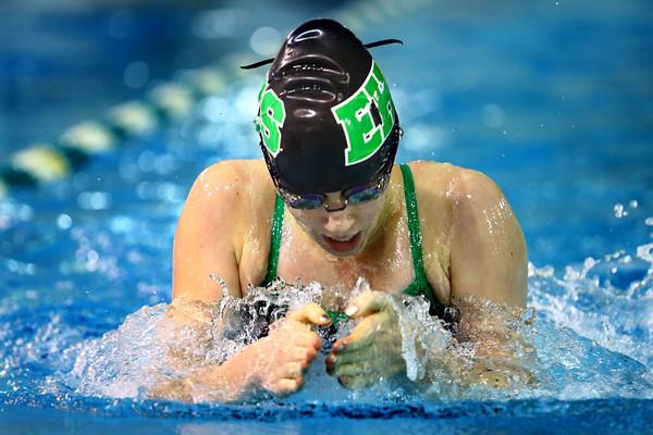Eastern High School's Katie Swartzendruber swimming the 100 breast on Tuesday,  Dec. 9, 2014. <br /> Tim Bath   Kokomo Tribune
