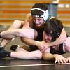 12-11-14<br /> Western vs Eastern wrestling<br /> Eastern's Isaac Hanny vs Western's Cole Coffman. Hanny won the match.<br /> Kelly Lafferty Gerber | Kokomo Tribune