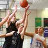 12-30-14<br /> Peru vs Maconaquah basketball<br /> Peru's Seth Adelsperger, Logan Primerano, and Maconaquah's Wyatt Hughes go after a rebound.<br /> Kelly Lafferty Gerber | Kokomo Tribune