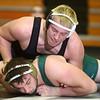 12-11-14<br /> Western vs Eastern wrestling<br /> Eastern's Evan Ellis vs Western's Corey Hinkle. Hinkle won the match.<br /> Kelly Lafferty Gerber | Kokomo Tribune