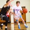 12-30-14<br /> Peru vs Maconaquah basketball<br /> Maconaquah's Chandler Pitts moves the ball down the court.<br /> Kelly Lafferty Gerber | Kokomo Tribune
