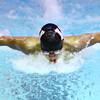 Western's Matt Duke swimming the 100 butterfly swimming against Carroll HS Thursday,  Dec. 4, 2014.<br /> Tim Bath | Kokomo Tribune