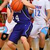 12-14-12<br /> Northwestern HS vs Maconaqua HS Boys Basketball<br /> NW's Blake Oakley rebounding a NW shot in the 2nd.<br /> KT photo | Tim Bath