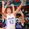 12-14-12<br /> Northwestern HS vs Maconaqua HS Boys Basketball<br /> Maconaqua's Micah Pier grabbing a rebound on a Maconaqua shot.<br /> KT photo | Tim Bath