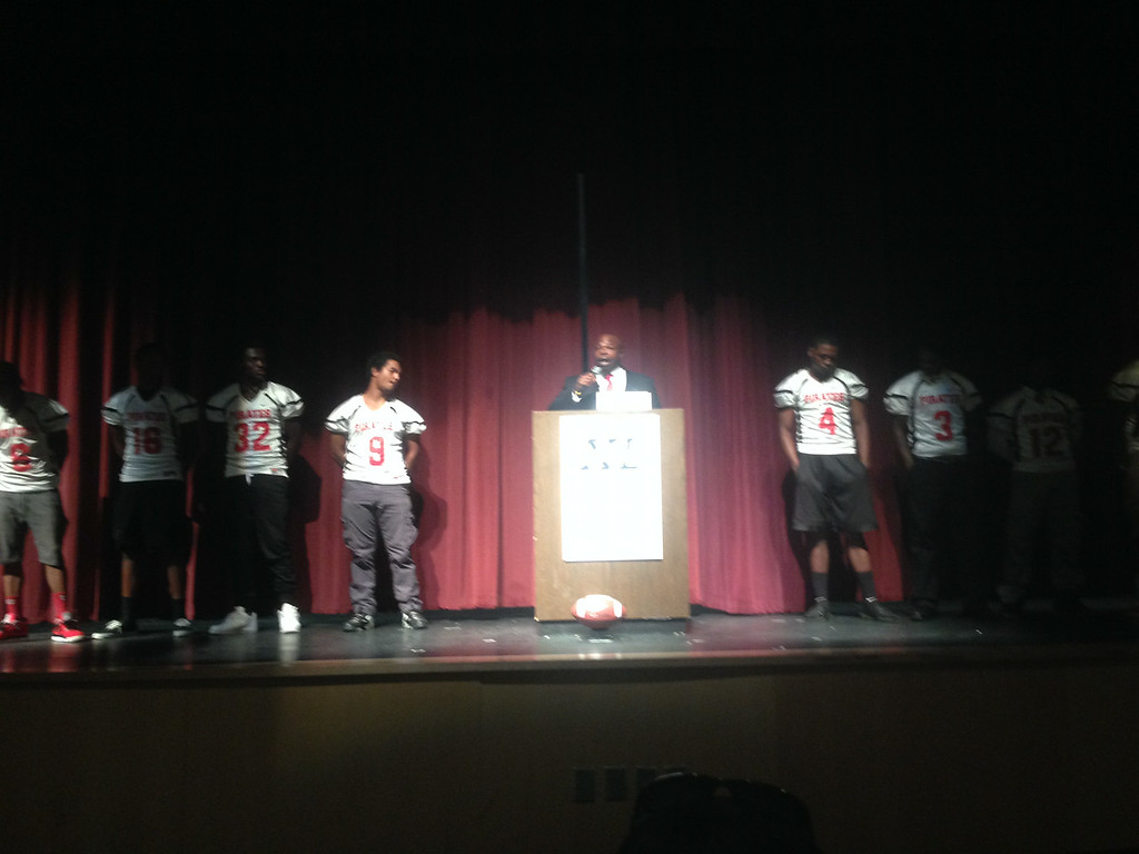 Stone Mountain's Coach Mason dressed to impress as he introduced his players of the 2014 season
