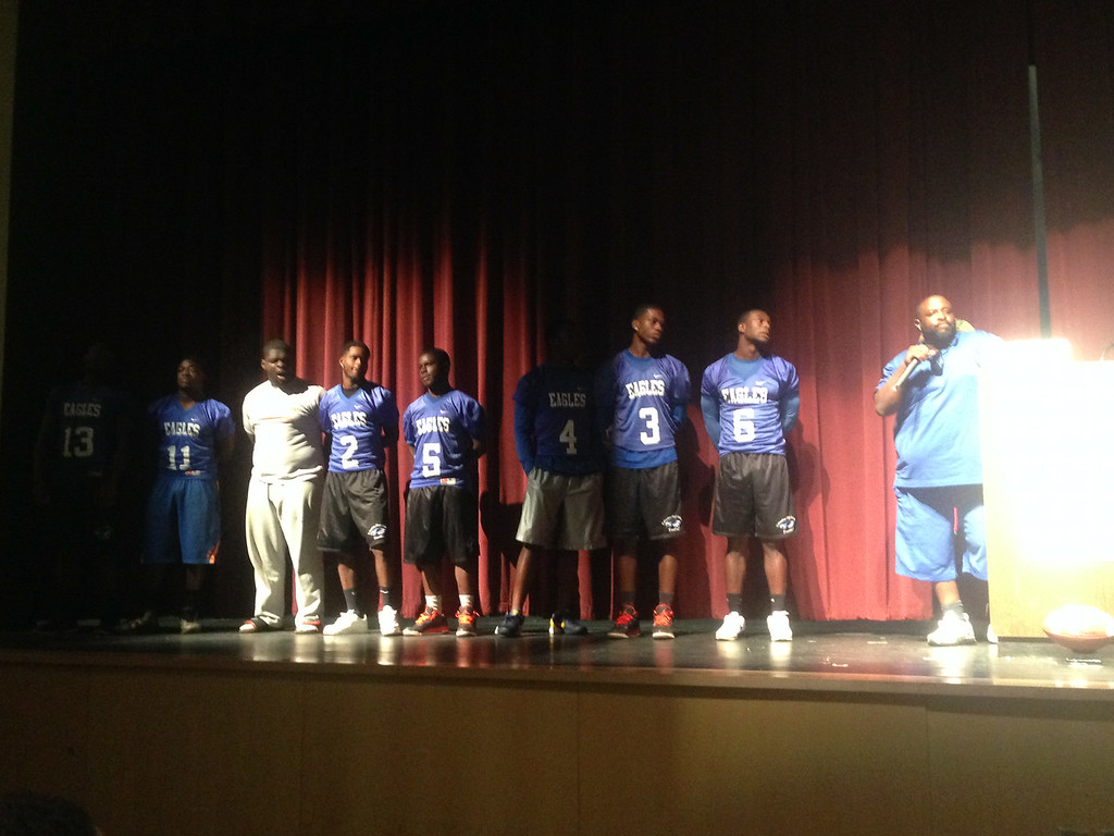 Although Coach Edwards couldn't make it, a Columbia representative introduced some of his team and their many talents