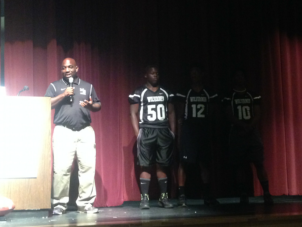 Dekalb County's very own Coach Wimes of Miller Grove High School introduced some of his stand out players