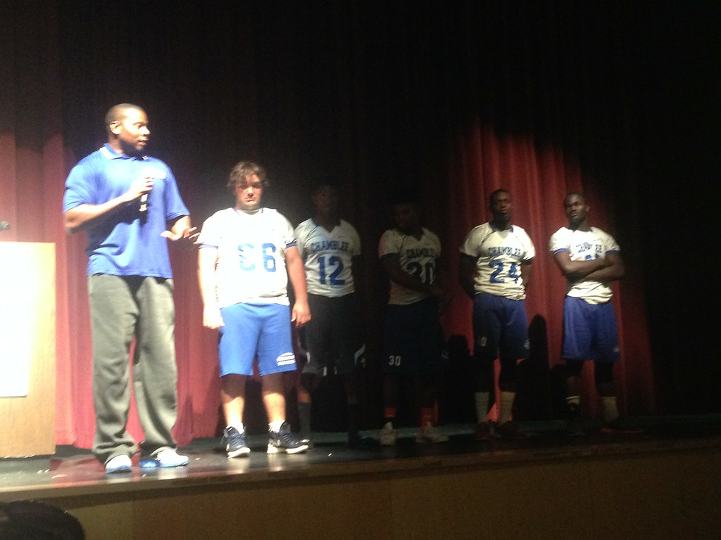 Chamblee's Representative Coach Sugars stood in for Coach Johnson and spoke about the hard work his team has put in in the offseason