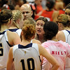 Legacy Coach Jamie Carey talks to her team after the loss in the 5A State Championship game on Friday.<br /> <br /> Cliff Grassmick / March 12, 2010