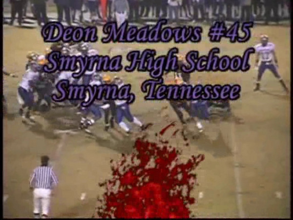 Deon Meadows #45<br /> Deon will be a junior this fall at Smyrna High School.  Smyrna TN