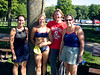 The 2007 swimmers stop for a photo before heading to the lake.