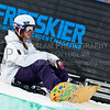 HUNTSVILLE, UT – JANUARY 15:  Elizabeth Beerman of Weston, Vermont takes a rest during the 2010 Winter Dew Tour Wendy's Invitational January 15, 2010 at the Snowbasin Resort in Huntsville, Utah.