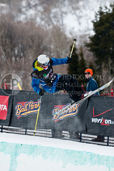 HUNTSVILLE, UT – JANUARY 15: Dania Assaly of Edmonton participates in the 2010 Winter Dew Tour Wendy's Invitational January 15, 2010 at the Snowbasin Resort in Huntsville, Utah.