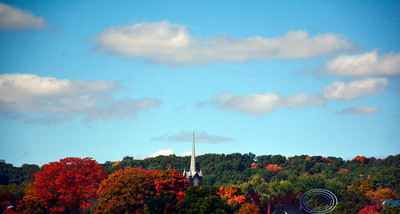 10/12/2016 Mike Orazzi | Staff Fall color in downtown Bristol Wednesday.