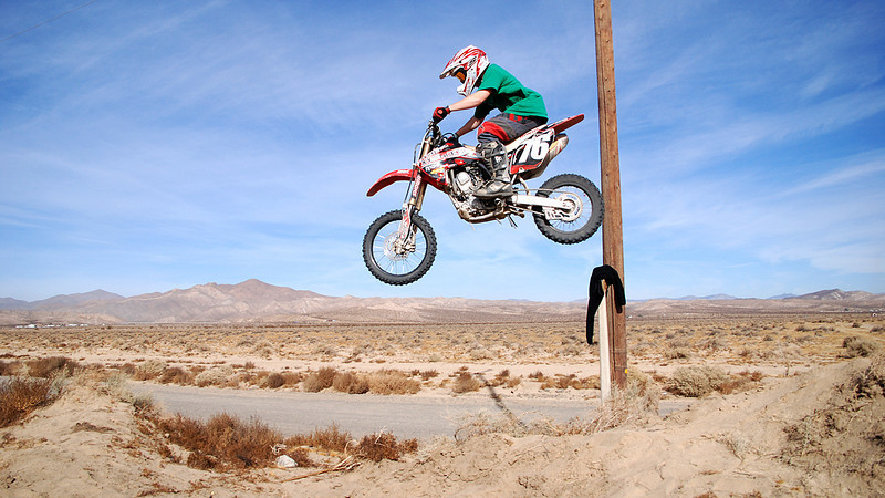 <h3>Mojave Desert Dirt Biking</h3> We ventured to the Mojave Desert for Thanksgiving 2009 for some motocross or dirtbiking extravaganza. We traveled hundreds of miles each day. We went to Jawbone Canyon, Dove Springs, Red Rock Canyon, El Paso Mountain Wilderness, Kieveh (Spelling?) Wildereness, up in the Sierras, Randsburg and Johannesburg. We did some crazy hill climbs and single track trails. We rode 100 miles or so every day, then 4wheeled at night.