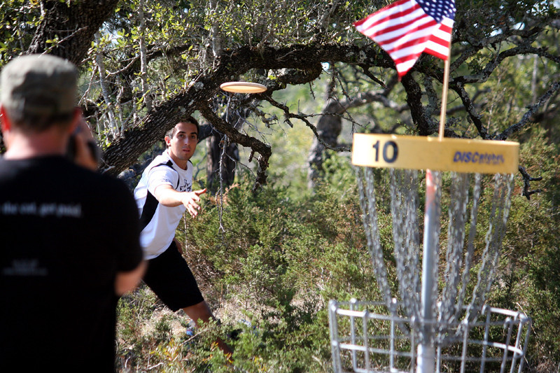 Paul McBeth makes his putt on hole 10.
