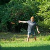 Taylor's first-ever round of disc golf