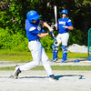 Lunenburg's Tristen Deschenes makes contact. Nashoba Valley Voice/Ed Niser