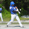 Lunenburg's Ryan Dame connects during Thursday's game. Nashoba Valley Voice/Ed Niser