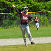 Ayer Shirley shortstop Jarrod Oberg fires to first. Nashoba Valley Voice/Ed Niser