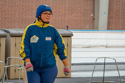 Schaatsdocent Caren