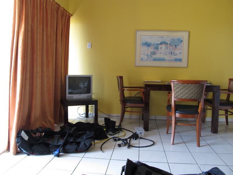 This is what our room looked like all week.