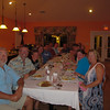 whole crew at dinner. It was fabulous every night