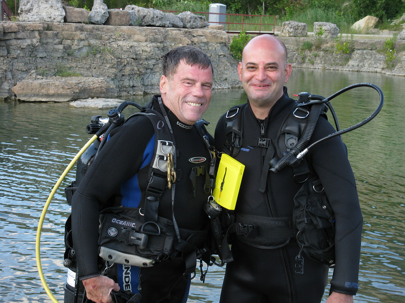 Open Water Diving Certification Check-Out Dives<br /> Me and my buddy (the instructor)