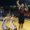 RYAN HUTTON/ Staff photo.<br /> Central Catholic's Nicholas Cambio (44) puts up an shot uncontested by Andover defenders during the first half of Saturday night's game at the Tsongas Center in Lowell.