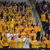 RYAN HUTTON/ Staff photo.<br /> Andover High fans celebrate a basket during the first half of Saturday night's game at the Tsongas Center in Lowell.