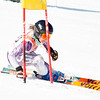 Record-Eagle/Brett A. Sommers Forest Hills Central's Courtney McAlindon tackles the giant slalom course during Monday's MHSAA Division 2 ski finals.