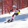 Record-Eagle/Brett A. Sommers Great North Alpine's Cooper Kerkof skis the slalom course during Monday's MHSAA Division 2 ski finals.