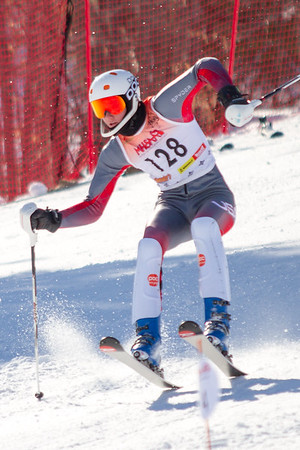 Record-Eagle/Brett A. Sommers Charlevoix's Matt Good skis the slalom course during Monday's MHSAA Division 2 ski finals.