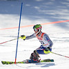 Record-Eagle/Brett A. Sommers Petoskey's MItch Makela skis the slalom course during Monday's MHSAA Division 2 ski finals.