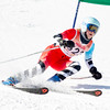 Record-Eagle/Brett A. Sommers Gaylord's Reagan Olli skis the giant slalom course during Monday's MHSAA Division 2 ski finals.