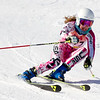Record-Eagle/Brett A. Sommers Great North Alpine's Kendra Wells skis the giant slalom course during Monday's MHSAA Division 2 ski finals.