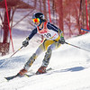 Record-Eagle/Brett A. Sommers East Grand Rapids' Johnny Southwell skis the slalom course during Monday's MHSAA Division 2 ski finals.