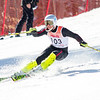 Record-Eagle/Brett A. Sommers Cadillac's Alex Netzley tackles the slalom course during Monday's MHSAA Division 2 ski finals.